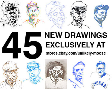 NEW ORIGINAL BASEBALL DRAWINGS