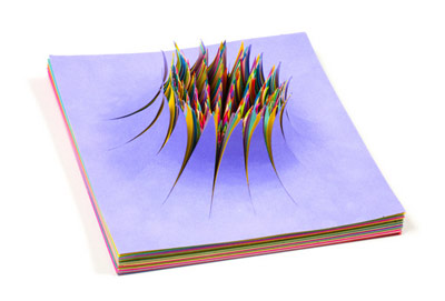 colored paper sculptures