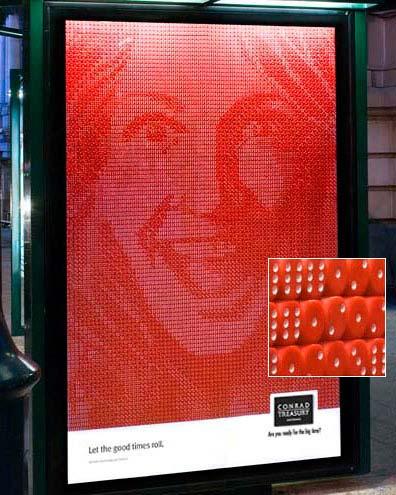 dice billboard