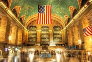 U.S. flag stars in the sky