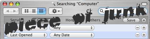 Apple OS 10.4 search tool SUCKS!