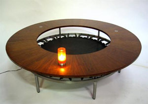 trampoline coffee table by Alberto Bonomi