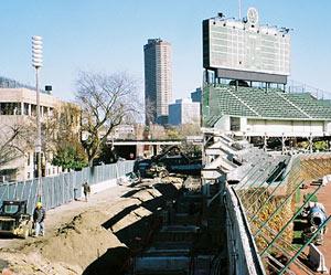 Wrigley Field construction photos