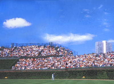 Wrigley Field scoreboard missing