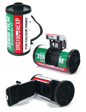 35mm film canister camera