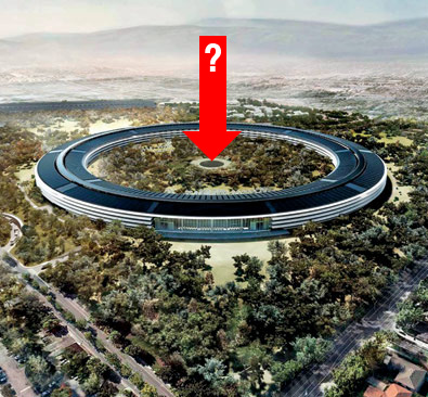 what's at the center of the Apple campus?