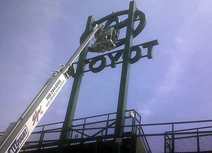 atoyot wrigley sign
