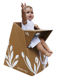 cardboard high chair