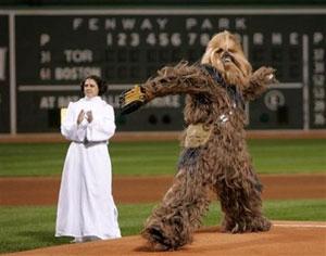 Chewbacca first pitch