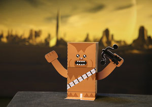 chewbacca paper toy
