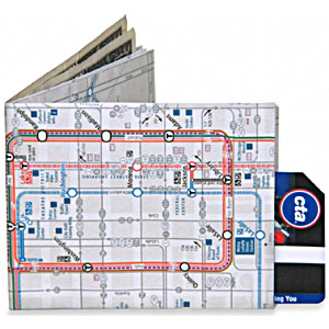 chicago map wallet