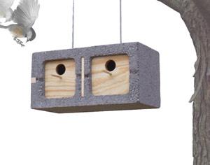 cinderblock birdhouse