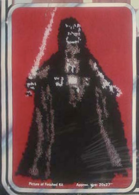 Darth Vader latch hook rug critique