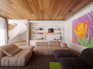 hardwood flooring on ceiling