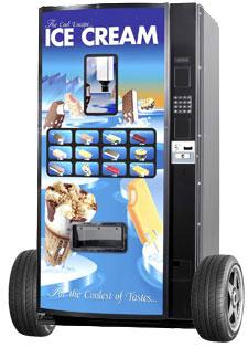 ice cream vending machine on wheels