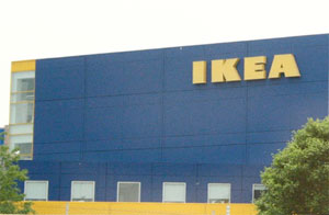 top of IKEA building