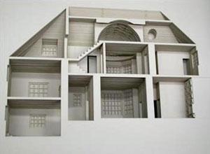 laser cut house in a book