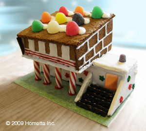 mod gingerbread house