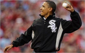 obama's first pitch for all-star game
