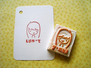 personalized portrait stamp