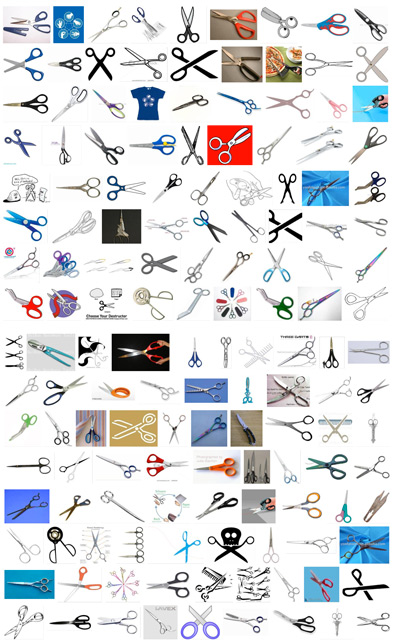 lots and lots of scissors