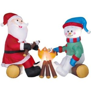 snowman roasting marshmallows?
