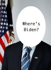 Biden's portrait missing