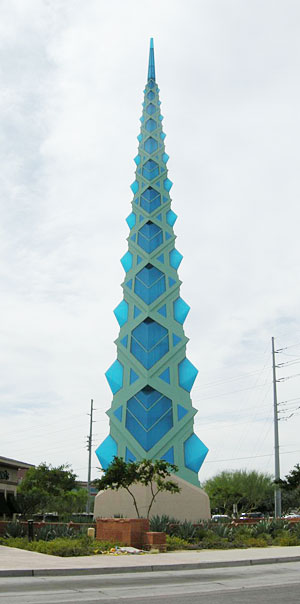 Frank Lloyd Wright spire in Scottsdale